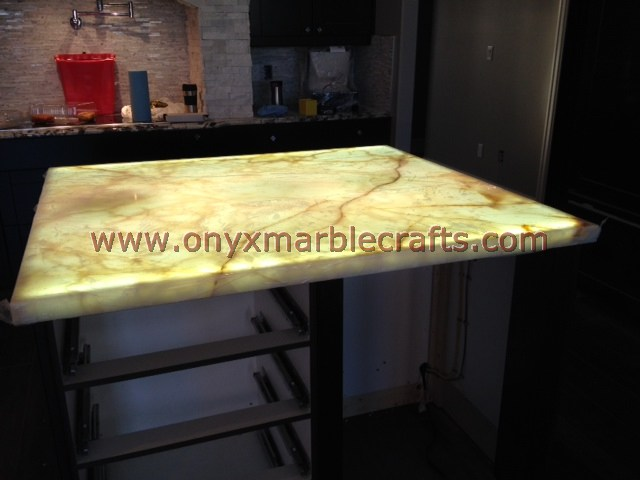 Backlit Table Tops Onyx Marble Designs